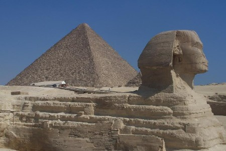 Sphinx en Piramide in Egypte